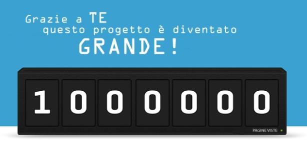 1 milione di pagine viste su Campania Europa!